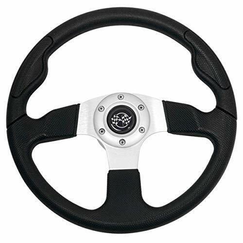Buggies Unlimited 12.5 inch Rally Sport Golf Cart Steering Wheel (Black)