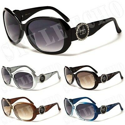 Circle Temple Sunglasses (New Circle Logo Temple Glamorous Womens Designer)