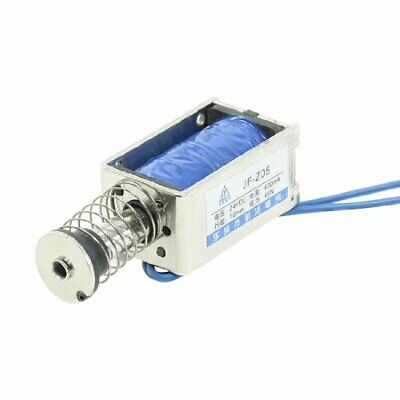 Uxcell A13060500ux0014 Push Type Open Frame Solenoid Electromagnet 45n 9.9 Lb.