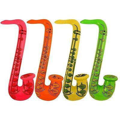 1 X Aufblasbar Saxophon 75cm Sax 70er Jahre 80er Jahre Musik Dj Kostüm - 70er Jahre Musik Kostüm