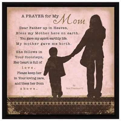 New Dexsa Prayer My Mom Wood Frame Plaque With Easel Dx8614