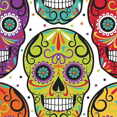 HALLOWEEN Sugar Skull Skelebrations LUNCH NAPKINS (16) ~ Birthday Party - Sugar Skull Party Supplies