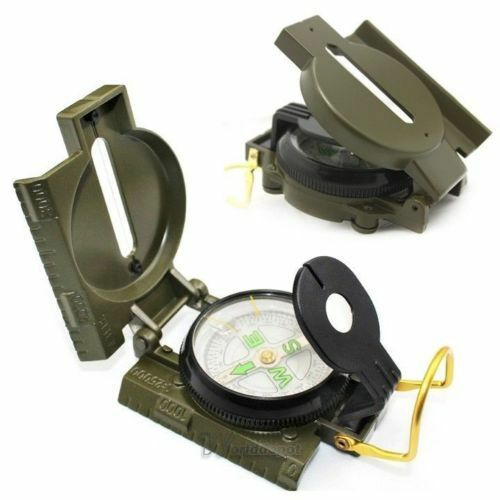 Metal Pocket Army Style Compass Military Camping Hiking Survival Marching New Us Camping & Hiking