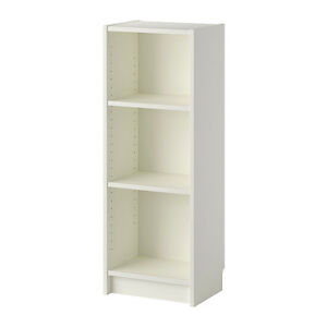 Wanted white billy bookcase short and narrow