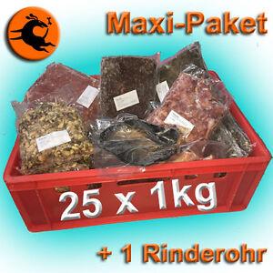Maxi 25kg + 1Rinderohr Barf Paket Frostfutter Barffleisch Frostfleisch barfen