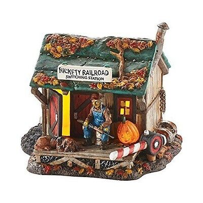 Department 56 Snow Village Halloween Haunted Rails Outpost Accessory