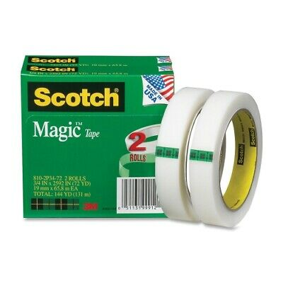 Scotch Magic Tape Refill 3 Core 0.75 X 72 Yds Clear 2pack