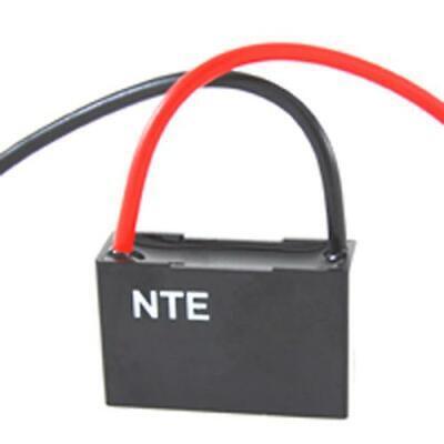 NTE CFC-6, 6uF @ 125/250V AC, Single Ceiling Fan Capacitor