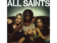 2 STANDING TICKTS TO SEE ALL SAINTS BIRMINGHAM 14TH OCTOBER £60 THE PAIR SELLING AT FACE VALUE