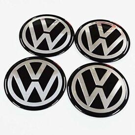 4pcs Volkswagen Adhesive stickers VW 60mm Wheel Center decals Rim Badges