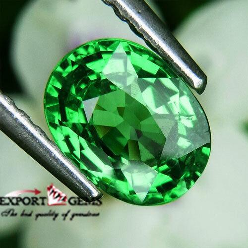 1.23CT NATURAL GREEN OVAL TSAVORITE GARNET
