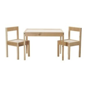 New Ikea Latt Kids Childrens Table and 2 Chairs Set Play Game Toy