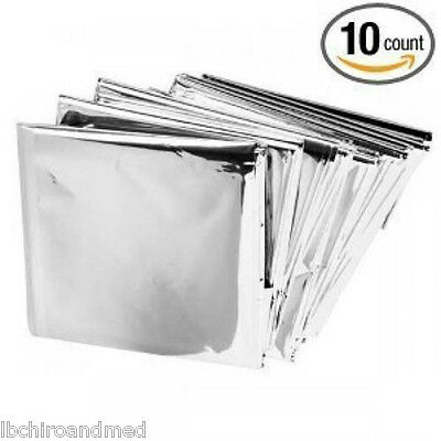 Купить Global - 10 PACK • Emergency Solar Blanket Survival Safety Insulating Mylar Thermal Heat