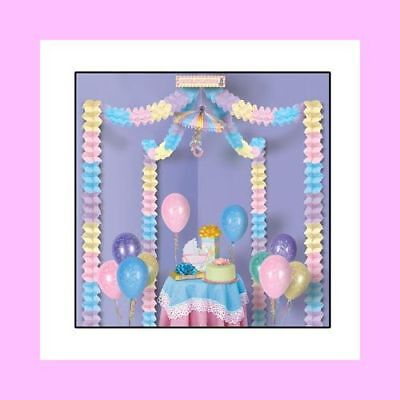 Baby Shower Decorating Kit (Pink, Blue, Yellow, Lavender) for Boy or Girl