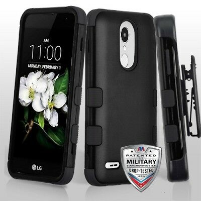 LG Zone 4 Belt Clip Holster Combo Cell Phone Case With Kick Stand Cover Verizon Verizon Cell Phone Cover