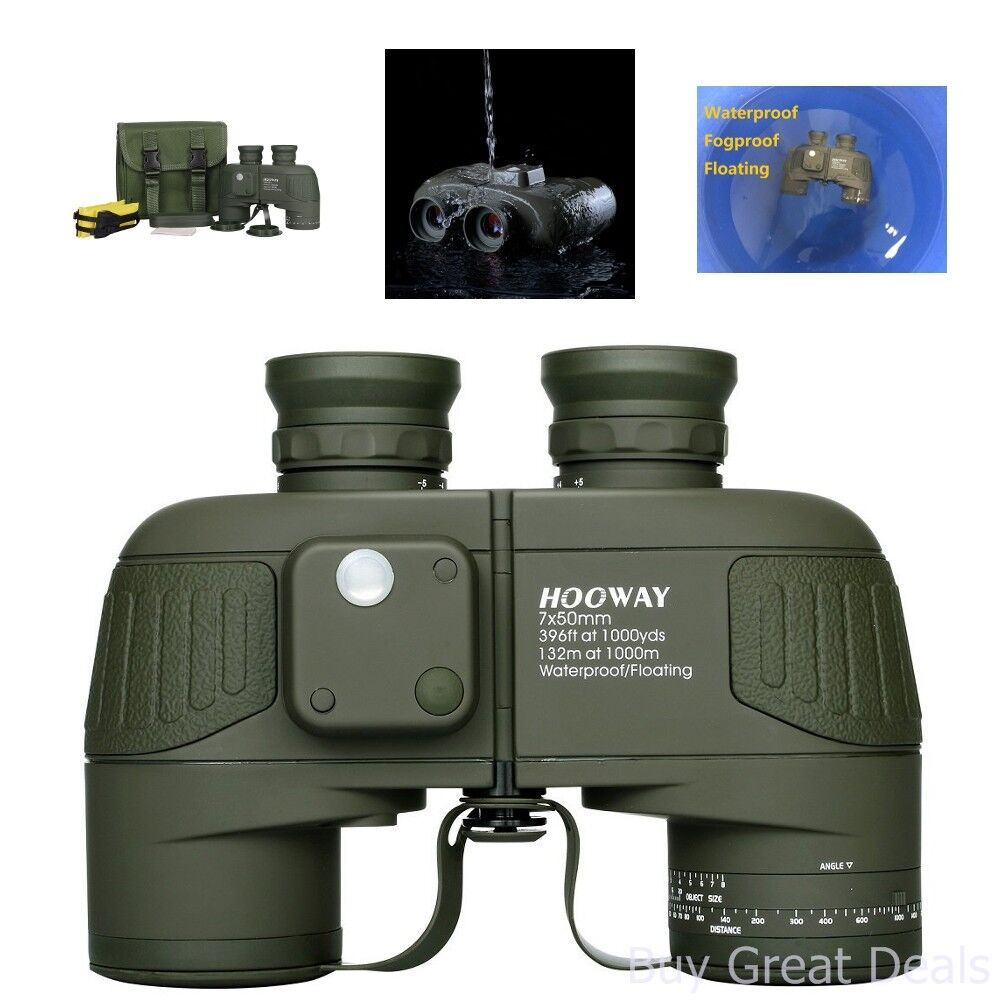 Hooway 7x50 Waterproof Floating Marine Binocular w/Internal