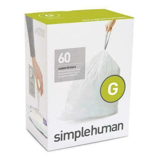 Simple Human Trash Bags Drawstring Custom Fit 8 Gallon Garba