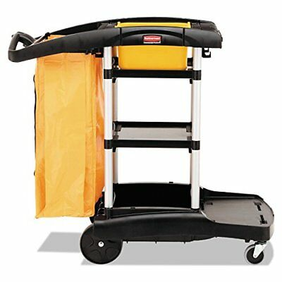 Rubbermaid Commercial Products Fg9t7200bla High Cap Cleaning Cart Rcp9t7200bk