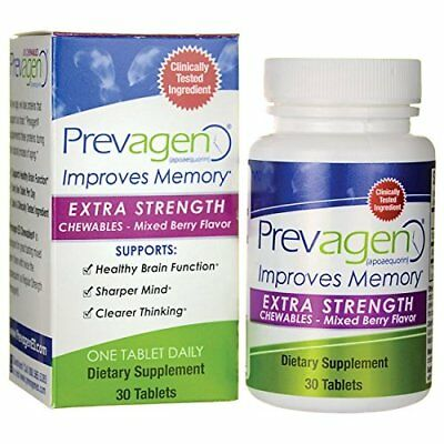 Prevagen Extra Strength Chewables Mixed Berry Flavor 30 tablets Improves Memory ()