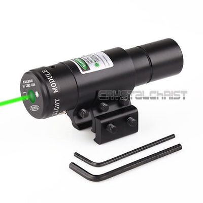 Tactical Green Laser Light Combo Sight Rifle Pistol Compact Picatinny Mount Combo Green Compact