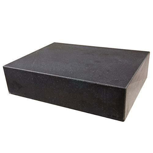 "HHIP 4401-0011 Granite Surface Plate, Grade B, Ledge 0, 12"" x 9"" x 3"""