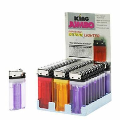 KING JUMBO - 12 Lighters - Disposable Butane Adjustable Asso