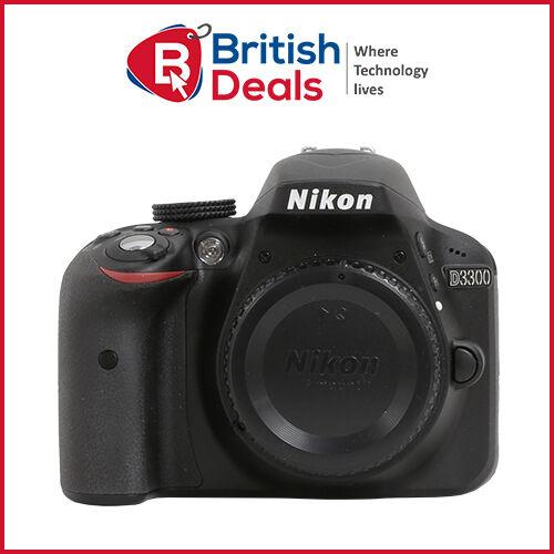 Nikon D3300 24.2 MP DX CMOS Digital SLR Camera Body Black Brand New In UK