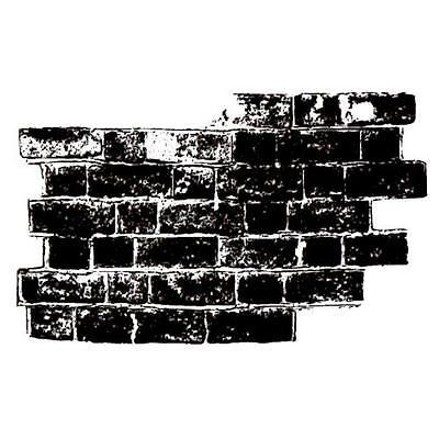 Brick Wall unmounted rubber stamp, urban, grunge, collage element #15