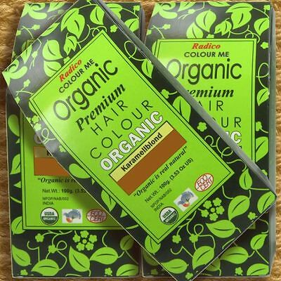 Radico Colour Me Organic Caramel Blonde Pflanzenhaarfarbe Karamellblond 100g bio