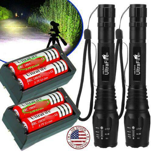 Tactical Police 90000Lumens 5 Modes T6 LED Flashlight Zoom A