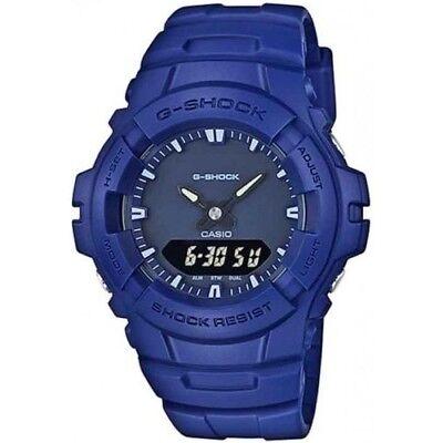 CASIO G-Shock G100CU-2A Blue and Black Matte Monotone Army Navy