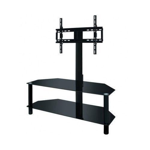 tv stand glass shelves ebay. Black Bedroom Furniture Sets. Home Design Ideas
