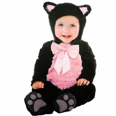 infant girls KITTY CAT 0-6  6-12 12-18 months black & pink Halloween