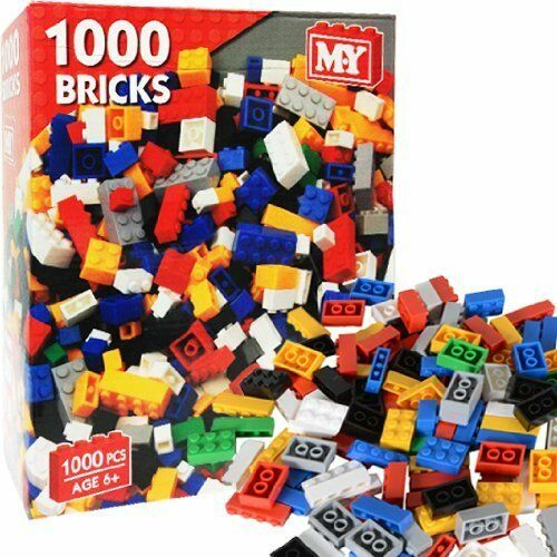 M.Y 1000 PIECE ASSORTED BUILDING BLOCKS BRICKS CONSTRUCTION  BUILD TOY NEW