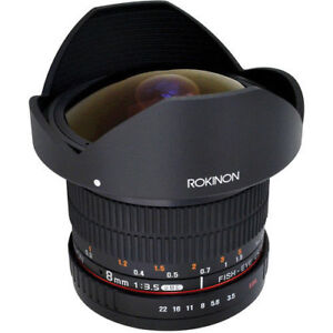ROKINON CANON mount 8mm FISHEYE lens 3.5 HD version