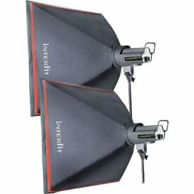 Pair of Interfit 60 cm Soft boxes