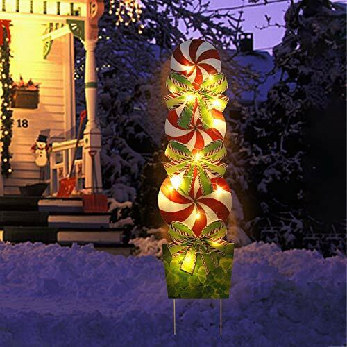 Christmas Yard Sign Candy Outdoor Decorations 44 inch Xmas Outdoor Large