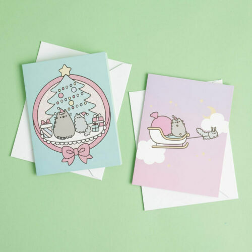 NEW Pusheen The Cat Holiday Card Set - Pusheen Box Winter 2018 Exclusive