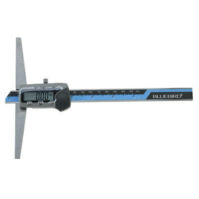 Bluetec Bd571-202 Digital Depth Gauge Micrometer Range 200mm Base 150mm X 14.5mm
