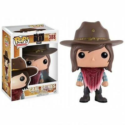 "THE WALKING DEAD CARL GRIMES BLOODY PONCHO 3.75"" POP VINYL FIGURE FUNKO 388"