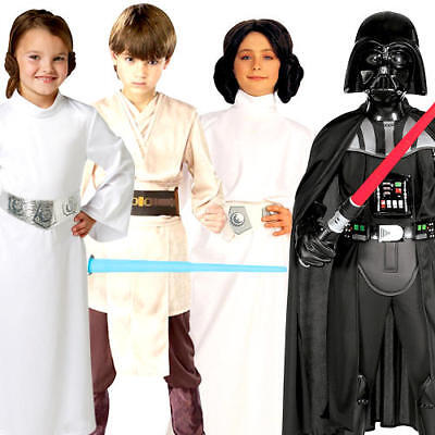 Star Wars Kids Fancy Dress Scifi Movie Film Book Day Week Childrens Costume New - Kids Movie Star Costumes
