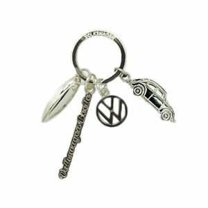 Official VW Beetle Metal Charm Keyring - Retro Gift Stocking Filler