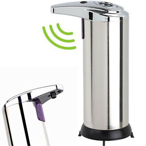 Touchless Motion Activated Soap Dispenser - Stainless Steel Body