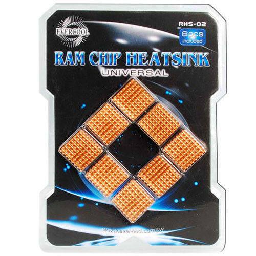 EverCool RHS-02 All Aluminum Heatsinks for Motherboard DDR Memory VGA Chipsets