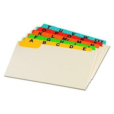 Oxford Index Card Guides With Laminated Tabs Alphabetical A-z Assorted 4x6