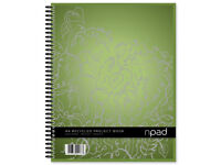 Brand new funky and high quality A4 NPAD recycled project book