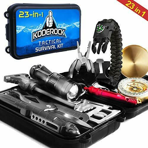 Survival Kit 23 in 1 Outdoor Military Gear Camping Hiking Su