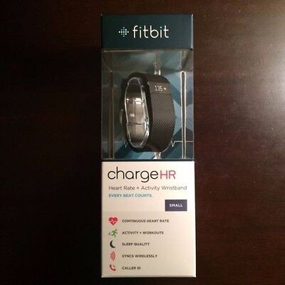 NEW Fitbit Charge HR Heart Rate & Activity Tracker & Sleep Wristband Black Small