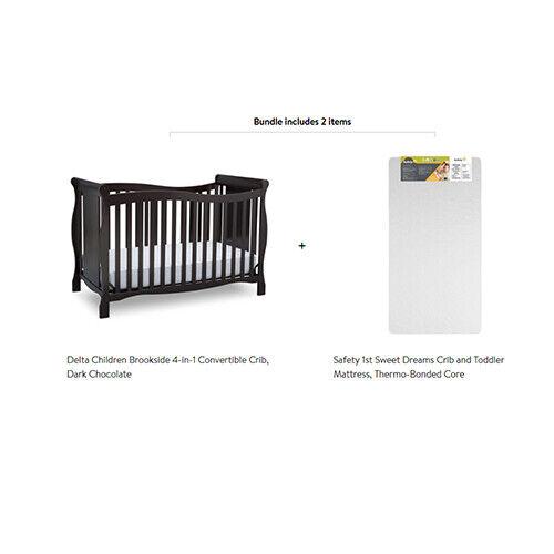 Delta Children Brookside 4-in-1 Convertible Crib with Mattre