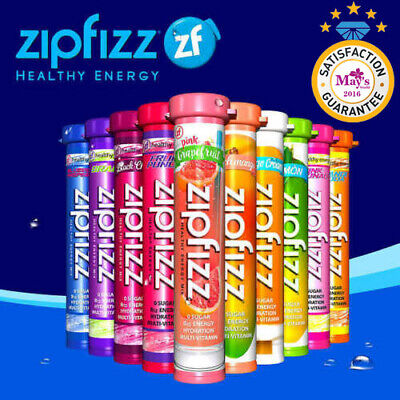 New Zipfizz Healthy Energy Drink Mix, 30 Tubes - FREE SHIPPING! BEST